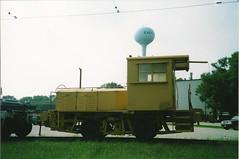 Tom Burke Photo East Troy WI 2003 Critter & Flatcar #3 (middlewest1) Tags: railroad wisconsin train spur freight switcher flatcar easttroy trenttube