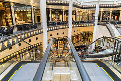 Escalators (*Capture the Moment*) Tags: berlin stairs escalator shoppingmall bunt stufen q1 2015 clourful rolltreppen