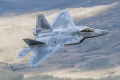 USAF F-22 Raptor Low Level Mach Loop (Pete Fletcher Photography) Tags: