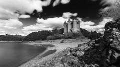 Chateau de Val (gael63) Tags: blackandwhite lake france castle central nb auvergne correze massif cantal lanobre borslesorgues