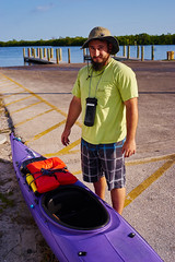 Kayaking (FunkadelicSam) Tags: ocean trees orange beach port docks portraits outdoors bay harbor purple florida charlotte palm chevy kayaks hhr