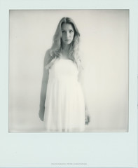 Lisa (peter christopher photography) Tags: portrait woman girl polaroid sx70 femme portrt blond portraiture blonde blondine impossibleprojectfilm
