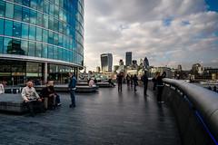 DSCP8518 (Neal_T) Tags: city uk london skyline architecture river 50mm boat fuji skyscrapers cityhall norfolk hmsbelfast norwich fujifilm gerkin londoncity walkietalkie themes newarchitecture vintagelens riverthemes xt1