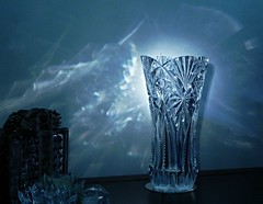 ...when light hits the vase... (carbumba) Tags: blue light crystal vase