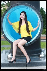 nEO_IMG_DP1U3170 (c0466art) Tags: blue light portrait color girl beautiful yellow canon pose action sweet outdoor gorgeous jenny pipe skirt short lovely charming elegant philippine 1dx c0466art