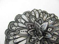 Black and grey silk flower brooch (simutes) Tags: black flower set butterfly grey brooch silk jewelry ring silkpainting blackbutterfly blackflower greyflower greybutterfly blackbrooch silkflowerbrooch