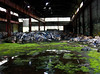 After the Flood (BradPerkins) Tags: factory neglected moss clothing abandonedfactory abandonedindiana garbage discarded water clothes gary flood mold reflection uniforms abandoned