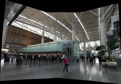 International Departure Lobby at the San Francisco Airport (sjrankin) Tags: sanfrancisco california panorama northerncalifornia edited sanfranciscoairport 11april2016