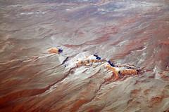 2016_02_10_sba-lax-ewr_517 (dsearls) Tags: red orange snow mountains utah flying desert wind aviation united aerial erosion plains sanrafaelswell ual unitedairlines windowseat windowshot 20160210 sbalaxewr