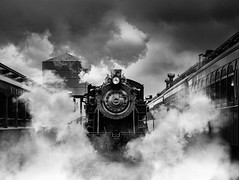 Sleeping Giant (Nenad Spasojevic) Tags: railroad travel usa chicago storm fun illinois steam il adventure strasbourg pa lancastercounty drama steamtrain oldtrain easte 2016 steammachine nenadspasojevic