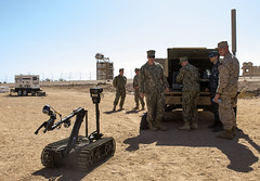 Sailor demonstrates the capabilities of the Talon robot during   IMCMEX 16. (Official U.S. Navy Imagery) Tags: navy jo jordan eod expeditionary ctf56 imcmex