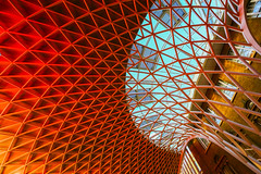 King's Cross Station (ncs1984) Tags: uk red england color colour building london station architecture modern train canon europe cross transport kings trainstation kingscross amateur canonef1635mmf28 canonef1635f28 canon6d