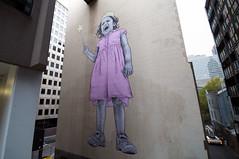 baby guerrilla pink princess tantrum (tb_frbnk) Tags: streetart pasteup princess wand boom urbanart littlegirl tantrum pastie melbournestreetart babyguerrilla allthoseshapes biggestpasteup