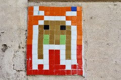 La Grenouille Masque_1645 rue Abel Hovelacque Paris 13 (meuh1246) Tags: streetart paris paris13 mosaque rueabelhovelacque lagrenouillemasque