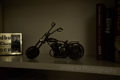 Model of a Motorbike (Jessie M Photography) Tags: life shadow jessie sepia contrast photography still highlights m motorbike motorcycle desaturated desaturate jessiemphotography