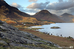 Wastwater at dusk in the English Lake District looking towards Wasdale Head (Wend's photography) Tags: uk england mountains english water landscape photography scenery unitedkingdom britain head lakes lakedistrict scenic lee atmospheric wastwater waterscape wasdale