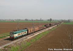 Interzona Bologna-Milano (Massimo Minervini) Tags: mt cargo ti piacenza interzona trenitalia ferrovia caimano e655 xmpr canon400d pontenure e655xmpr e655162 lineamilanobologna