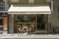Quaint cafe in Lisbon, Portugal (jackie weisberg) Tags: city portugal awning restaurant cafe lisbon capital cities eu bakery quaint quaintcafe