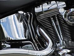 Shiny Machine (ebergcanada) Tags: detail reflection metal motorcycle