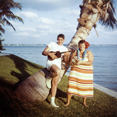 dad & grandmom - ocean view early 60s (Doctor Casino) Tags: florida sunny florentine godel laimon evelynjudygodelgirth