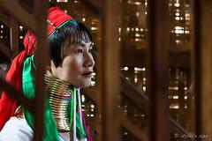 Long Woman through the Stairs 5467 (Ursula in Aus - Away) Tags: portrait burma karen myanmar inlelake hilltribes hilltribe environmentalportrait karlgroblphototour