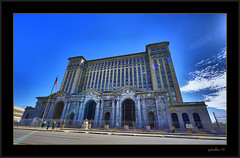 Michigan Central Station (the Gallopping Geezer 3.8 million + views....) Tags: old railroad travel building abandoned mi train canon decay michigan detroit structure historic faded transportation worn depot hdr mcs decayed geezer 2016 michigancentralstation 14mm