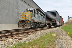 International Paper, Gambles, Pa (W&LE45) Tags: bo pike avr swp washingtonpa gp40 eightyfour wle gp11 alleghenyvalleyrailroad carloadexpress