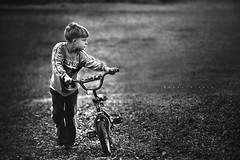 The Long Way Home, II (Kapuschinsky) Tags: texture monochrome childhood bike bicycle outside outdoors moody child minolta lifestyle naturallight dailylife emotive canid sonyalpha sonya700 candidchildhood fineartlifestyle