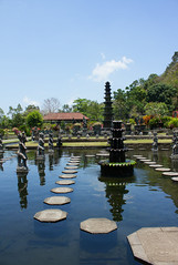 Stepping Stones (Triple_B_Photography) Tags: world travel vacation bali holiday tourism water beautiful contrast canon wonderful garden indonesia island temple eos hotel asia paradise view culture palace location tourist explore journey saturation 7d tropical destination indah ornamental hindu hinduism guardian balinese lokal karangasem