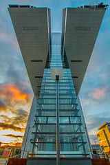 Cologne Cranehouse (CoellnerPhotography) Tags: city sunset urban architecture canon deutschland cologne köln architektur nrw rhine rhein urbanscape wideangel weitwinkel cranehouse 70d kranhäuser kranhaus eos70d