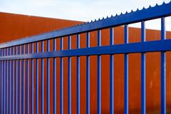 blue gate minimal (lumofisk) Tags: blau de deutschland europa europe gelsenkirchen germany gitter material nrw nordrheinwestfalen northrhinewestphalia ruhrregion ruhrgebiet stahl theruhr tor architecture blue door grid minimal minimalist rost rust steel nikondf 0mmf0 50mm