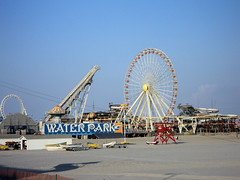 The pier (Brundlefly85) Tags: red summer dog sun beach dogs beautiful sand nj sunny boardwalk rides wildwood summers 2015
