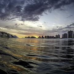 Surfing During Sunset | 160117-0272709-jikatu (jikatu) Tags: sunset uruguay atardecer surf go surfing maldonado puntadeleste playabrava gopro hero4 jikatu gopro4