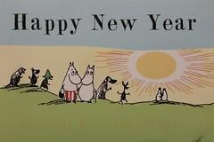 Moomins Happy New Year (leslye129) Tags: new year postcrossing moomin moomins
