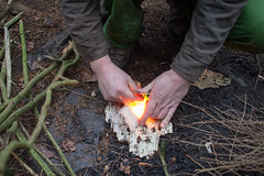 """Rozdělávání ohně křesadlem • <a style=""""font-size:0.8em;"""" href=""""http://www.flickr.com/photos/28630674@N06/24020383832/"""" target=""""_blank"""">View on Flickr</a>"""