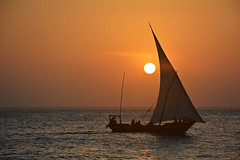 Sunset in Kendwa Beach - dhow (sophie.pereira) Tags: zanzibar dhow