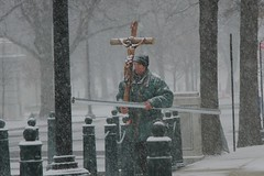 cross-bearer (philliefan99) Tags: snow washingtondc districtofcolumbia uscapitol crucifix capitolhill marchforlife snowzilla capitalweather blizzard2015