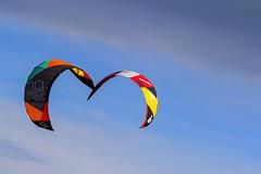 Kissing kites (Frank Fullard) Tags: blue ireland sky irish kite color colour kiss kissing colorful surfing kitesurfing colourful achill fullard frankfullard