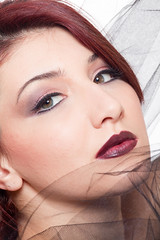 Arianna (ross-makeup) Tags: beauty face hair model eyes makeup lips occhi shooting lipstick redhair arianna tulle readhead viso reynolds fakeeyelashes capelli rossetto trucco labbra modella ciglia capellirossi darklipstick cigliafinte rossettoscuro