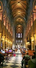 Notre-Dame de Paris (Albert Jafar) Tags: people paris france church arch cathedral basilica praying kirche stainedglass notredame altar catholicchurch column kneeling kerk notredamedeparis architechure iledelacite