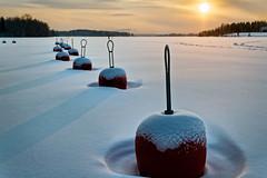 Iisalmi (Tuomo Lindfors) Tags: winter sun snow ice suomi finland frost lumi talvi buoy adjust j aurinko iisalmi pakkanen restyle poiju topazlabs porovesi