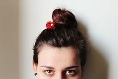 io (gioinw) Tags: red italy brown flower girl canon hair eyes italian shadows io occhi spanish giulia canonphoto