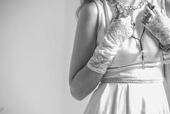 . (pajicbokeh) Tags: wedding blackandwhite woman white monochrome fashion hands dress serbia marta belgrade bridal offset blackandwhitephotography glowes miljanic