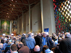 Tribute to Jimmy Hill (kestrel49) Tags: uk england football europe cathedral britain gb tribute 16 coventry citycentre westmidlands warwickshire skyblues 2016 ccfc coventrycathedral cv1 coventrycity jimmyhill pusb