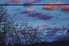 mrak (lasicaaa) Tags: pink blue trees winter sunset sky mountain colors clouds landscape cable line frukagora