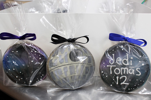 Death Star and Galaxy Airbrushed Sugar Cookies