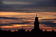 Stormy Awakening . ( Despertar Borrascós ) (Alex Nebot) Tags: sunset sky sol skyline arquitectura edificios nikon tramonto alba amanecer nubes nikkor crepusculo siluet siluetas tarragona campanario campanar nubols vendrell d7200