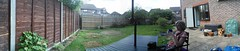 Gardnorama (mdavidford) Tags: panorama coffee yard fence garden table relax break drink suburbia patio rest