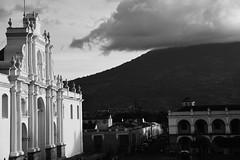 DSC_5862 (Kent MacElwee) Tags: park sky blackandwhite church latinamerica clouds highlands guatemala religion historic antigua plazamayor centralamerica parquecentral 1541 saintjosephcathedral spanishcolonialcity