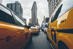 (Jon Fleurant) Tags: street new york city nyc urban ny jon manhattan cabs flatiron taxicabs 1740l canonusa teamcanon fleurant jonfleurant